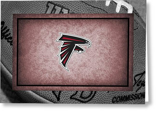 Atlanta Falcons Greeting Card by Joe Hamilton