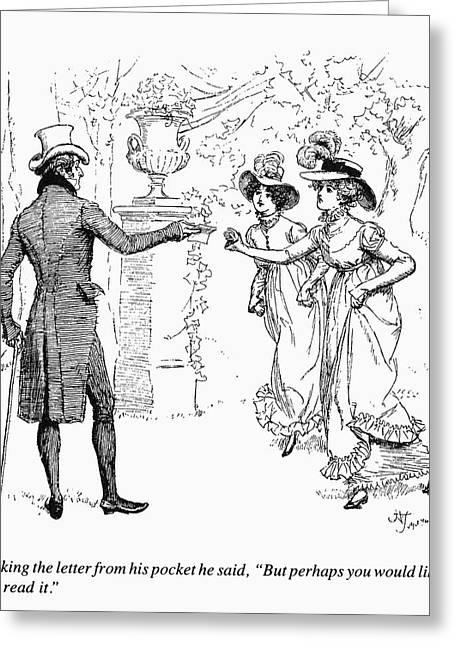 Austen Pride & Prejudice Greeting Card by Granger