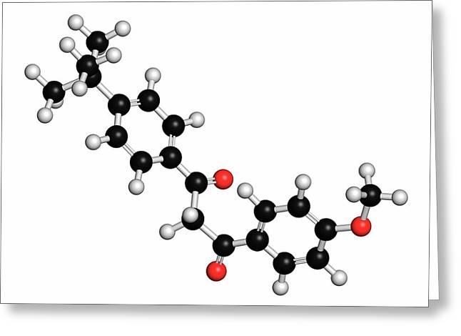 Avobenzone Sunscreen Molecule Greeting Card by Molekuul