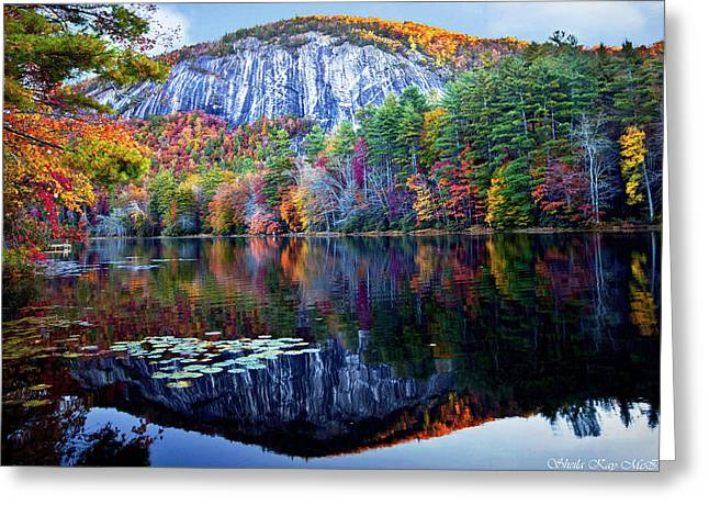 Bald Rock Mountain Nc Greeting Card