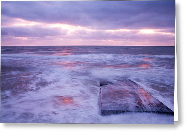 Ballyconnigar Strand At Dawn Greeting Card