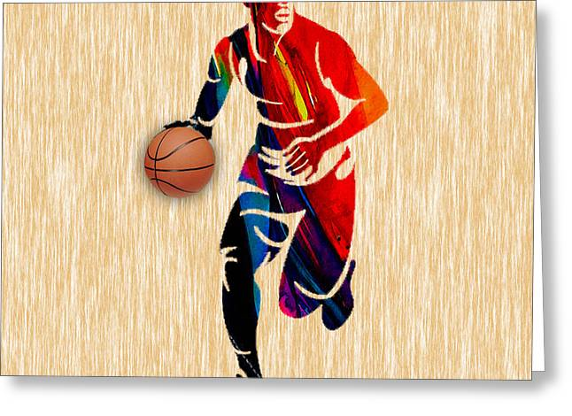 Basketball Greeting Card by Marvin Blaine