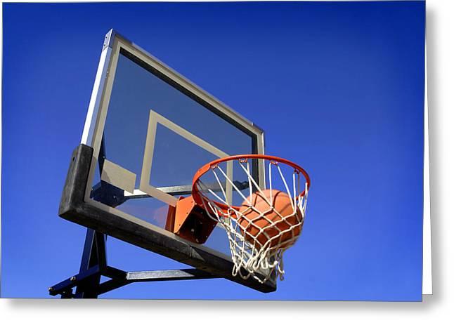 Basketball Shot Greeting Card by Lane Erickson