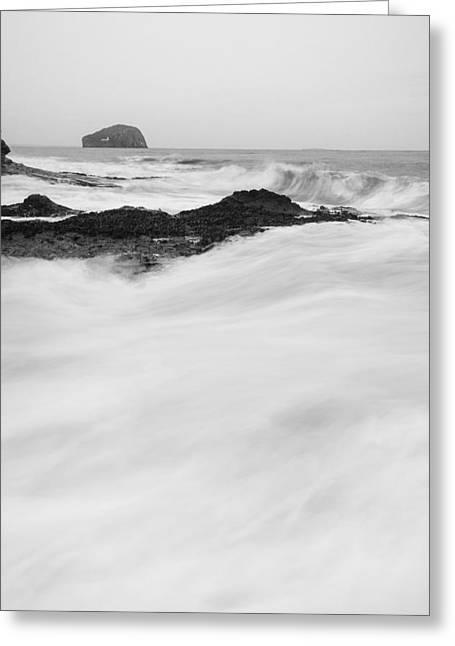 Bass Rock Greeting Card by Keith Thorburn LRPS