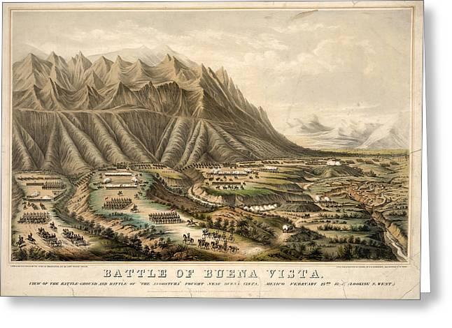 Battle Of Buena Vista, 1847 Greeting Card by Granger