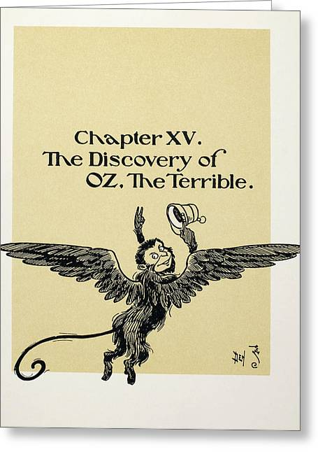Baum The Wizard Of Oz Greeting Card by Granger