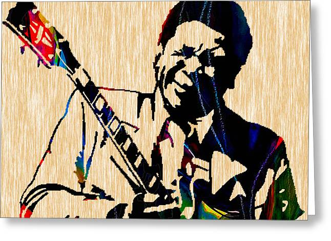 Bb King Collection Greeting Card by Marvin Blaine