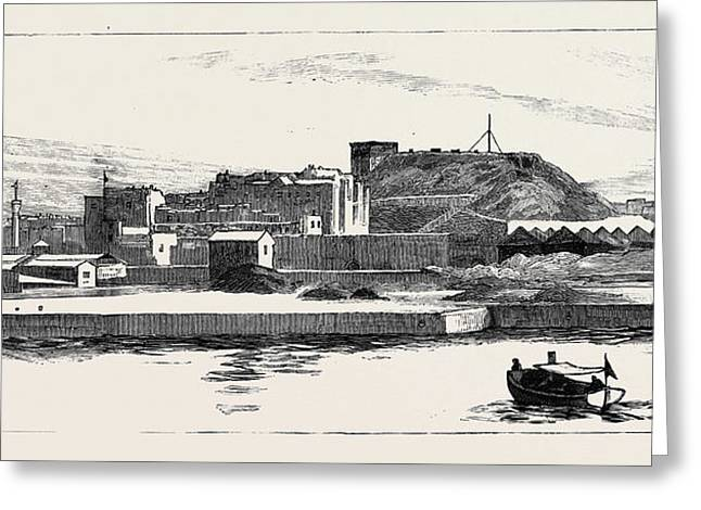 Before The Bombardment Of Alexandria, July 7 Greeting Card by English School