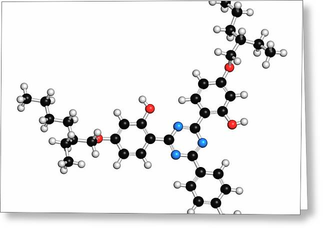 Bemotrizinol Sunscreen Molecule Greeting Card by Molekuul