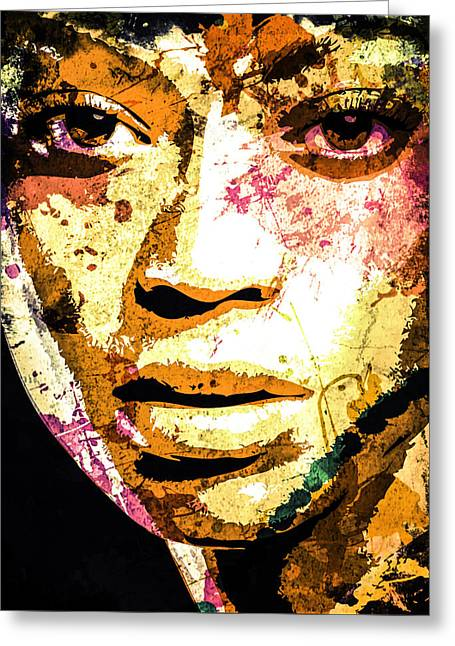 Beyonce Greeting Card by Svelby Art
