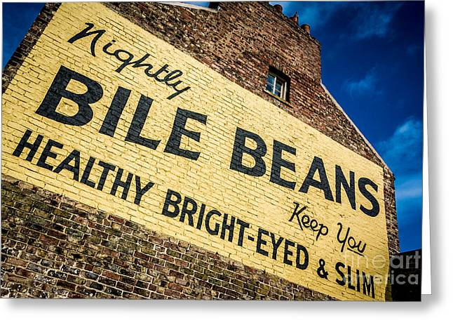 Bile Beans Advertising Greeting Card by Bailey Cooper
