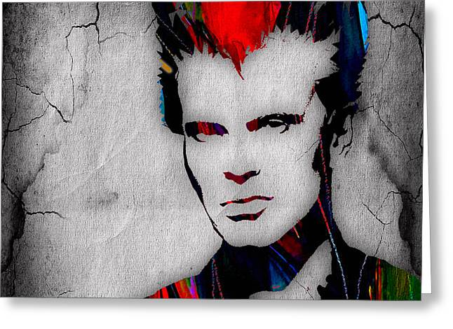 Billy Idol Collection Greeting Card by Marvin Blaine
