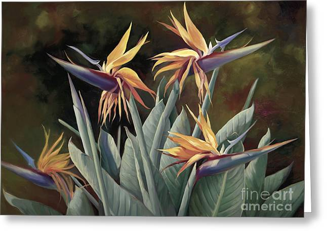 4 Birds Of Paradise Greeting Card