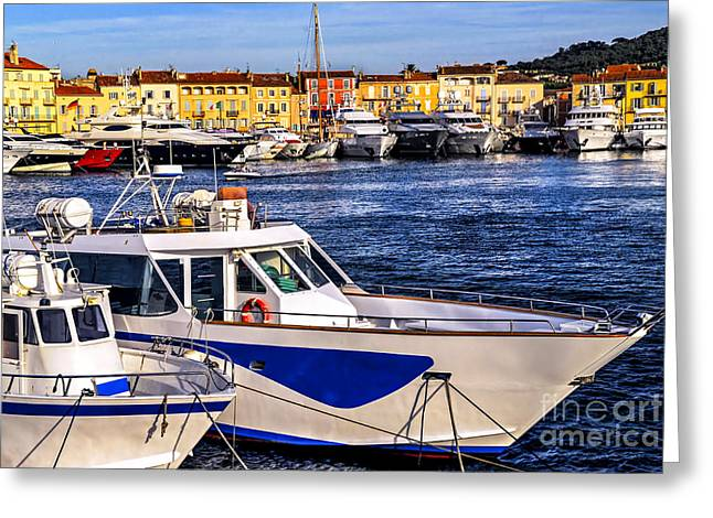 Boats At St.tropez Greeting Card