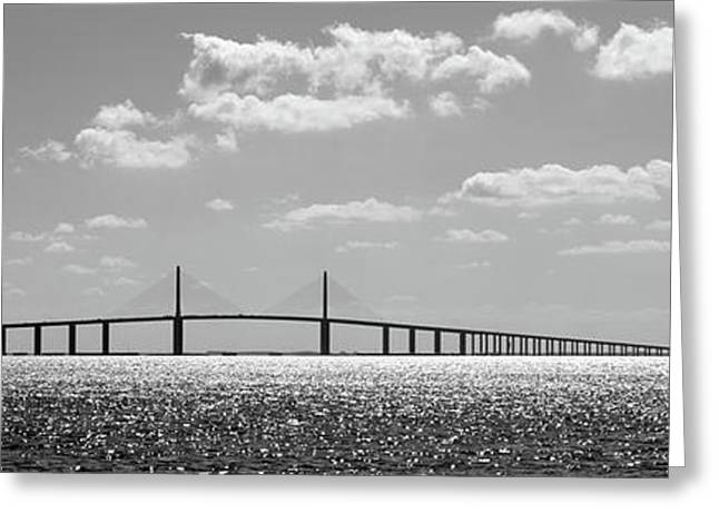 Bridge Across A Bay, Sunshine Skyway Greeting Card by Panoramic Images