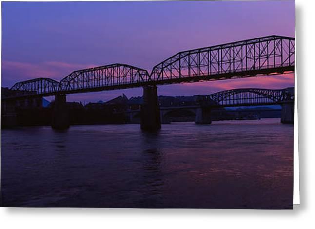 Bridge Across A River, Walnut Street Greeting Card