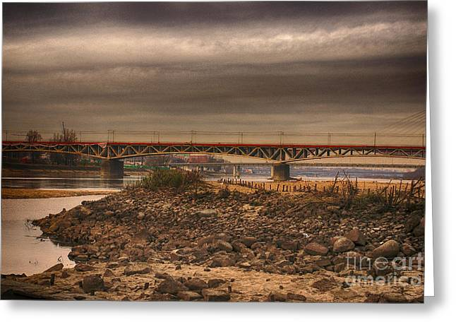 Bridge Greeting Card by Jacek Niewiadomski