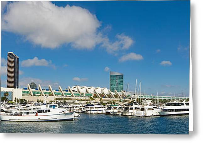 Buildings In A City, San Diego Greeting Card by Panoramic Images
