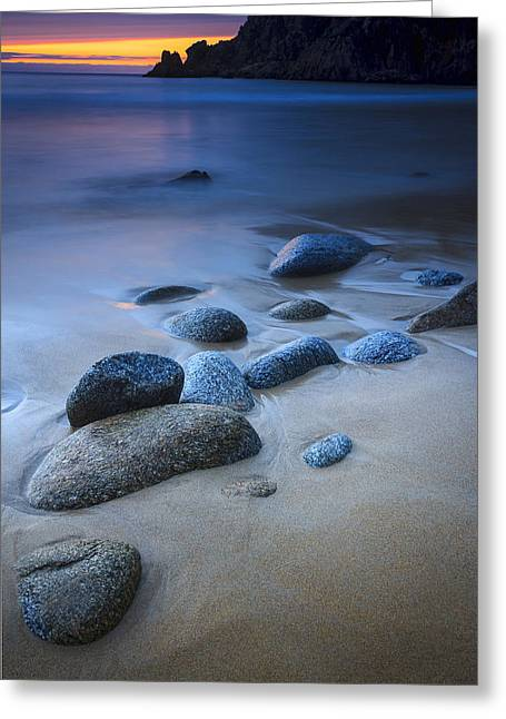 Campelo Beach Galicia Spain Greeting Card