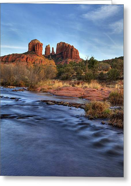 Cathedral Rocks In Sedona Greeting Card