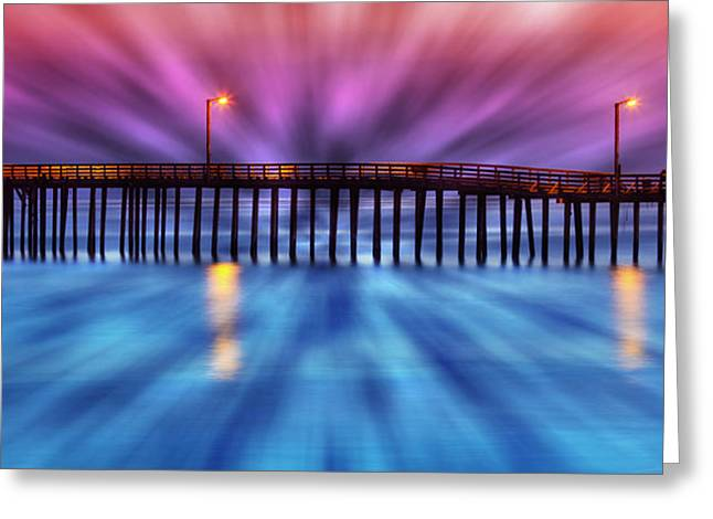 Cayucos Pier Greeting Card by Robert Jensen