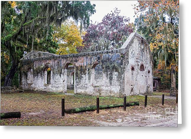 Chapel Of Ease Ruins St. Helena Island South Carolina Greeting Card by Dawna  Moore Photography