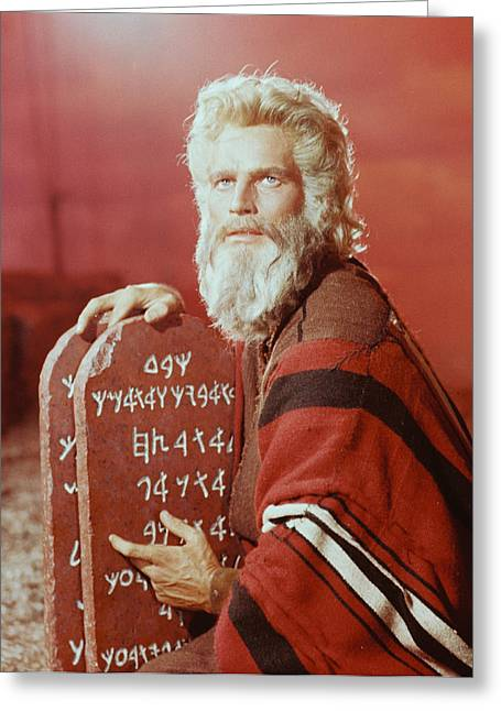Charlton Heston In The Ten Commandments Greeting Card by Silver Screen