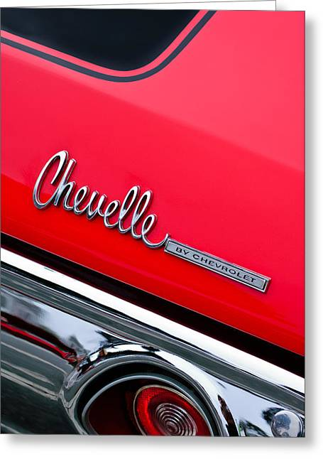 Chevrolet Chevelle Ss Taillight Emblem Greeting Card by Jill Reger