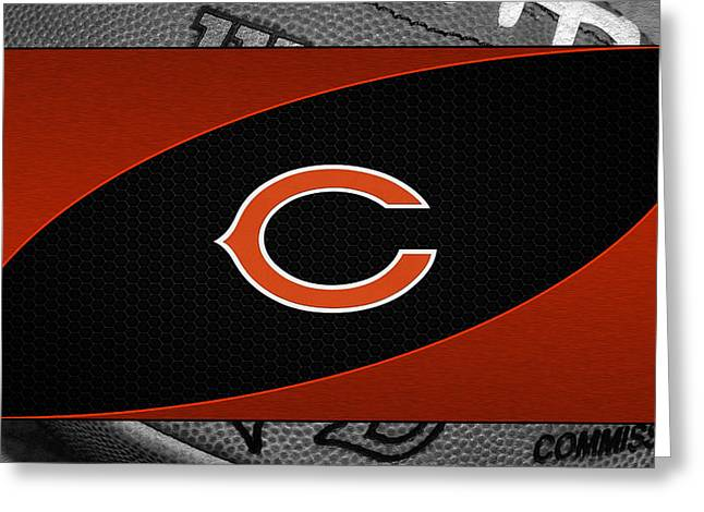 Chicago Bears Greeting Card by Joe Hamilton