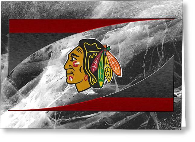Chicago Blackhawks Greeting Card by Joe Hamilton