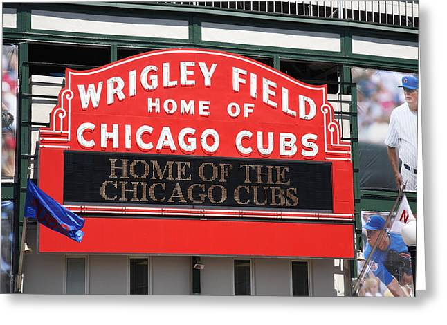 Chicago Cubs - Wrigley Field Greeting Card by Frank Romeo