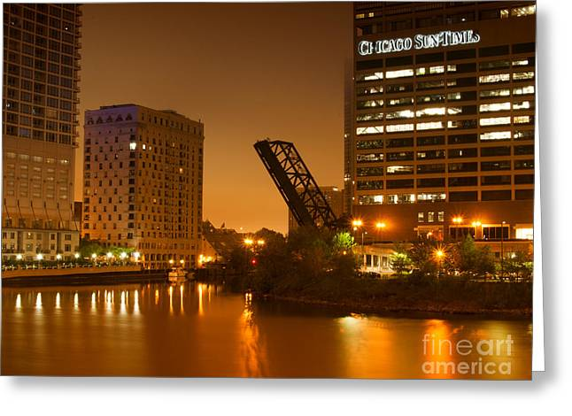 Chicago Greeting Card by Miguel Winterpacht