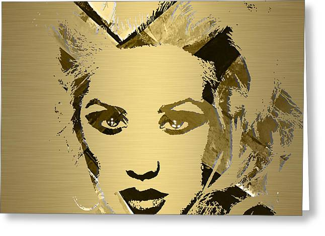 Christina Aguilera Collection Greeting Card by Marvin Blaine
