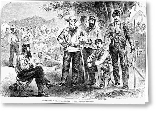 Civil War Soldiers, 1861 Greeting Card by Granger