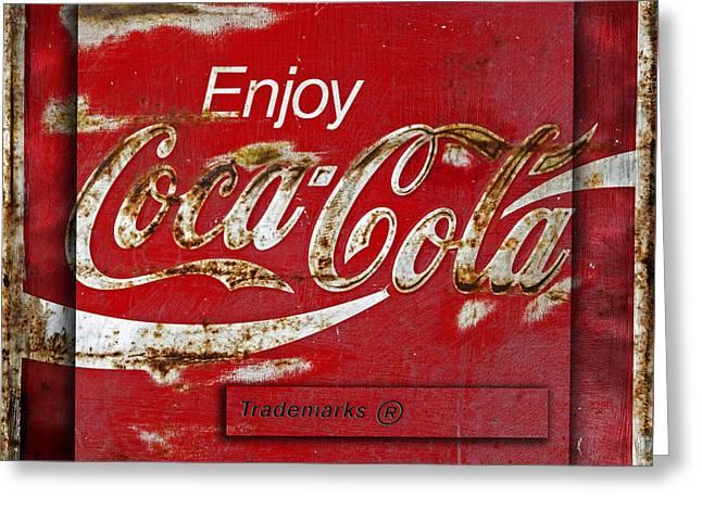 Coca Cola Vintage Rusty Sign Greeting Card