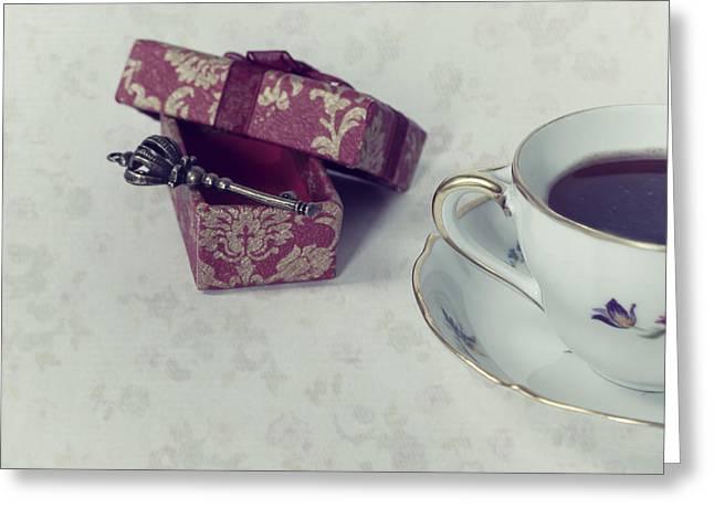 Coffee Time Greeting Card by Joana Kruse