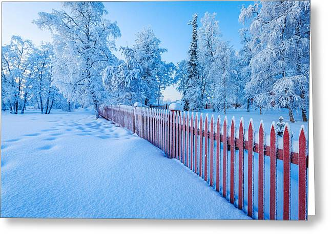 Cold Winter With Temperatures Going Greeting Card