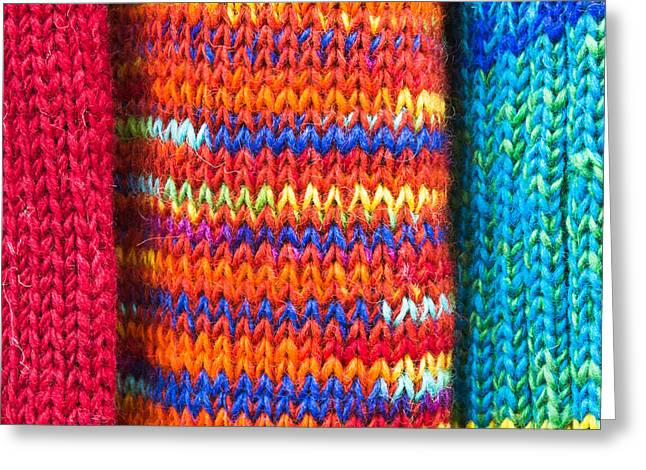 Colorful Wool Greeting Card by Tom Gowanlock
