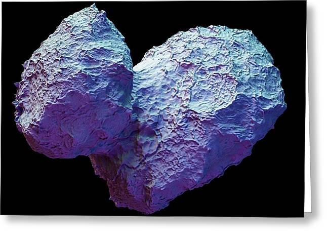 Comet Churyumov-gerasimenko Greeting Card by Maurizio De Angelis