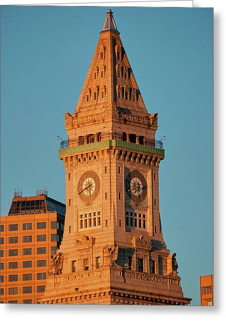Commerce House Tower Built 1910 Greeting Card