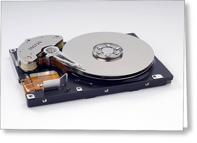Computer Hard Disc Greeting Card by Trevor Clifford Photography