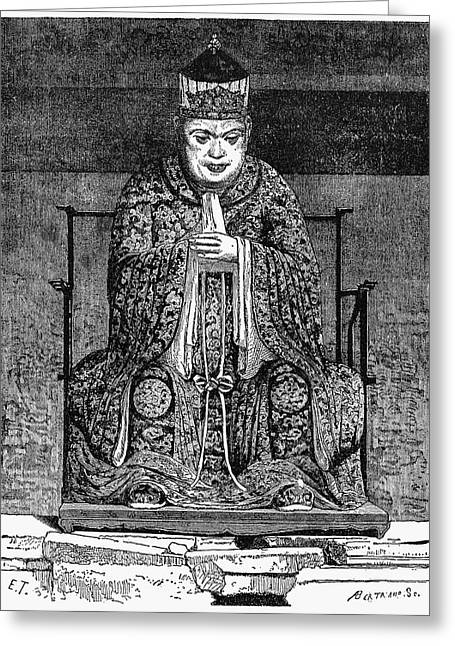 Confucius (c551-479 B Greeting Card by Granger