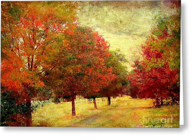 Country Road Greeting Card by Irina Hays