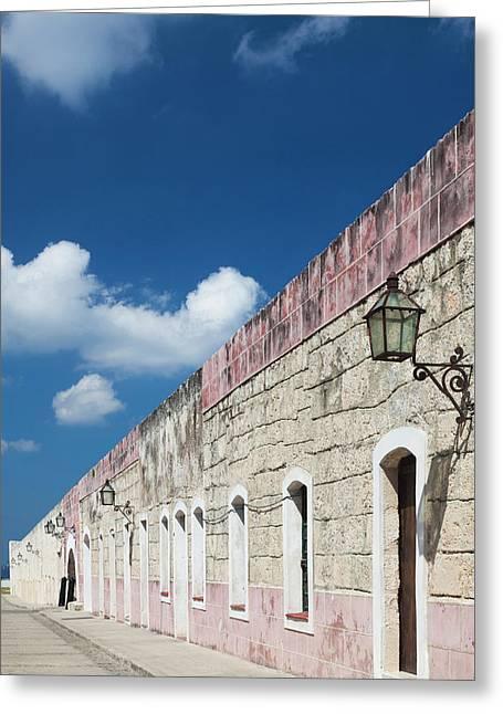 Cuba, Havana, Fortaleza De San Carlos Greeting Card by Walter Bibikow