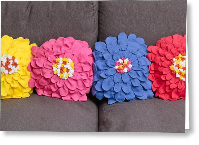 Cushions Greeting Card