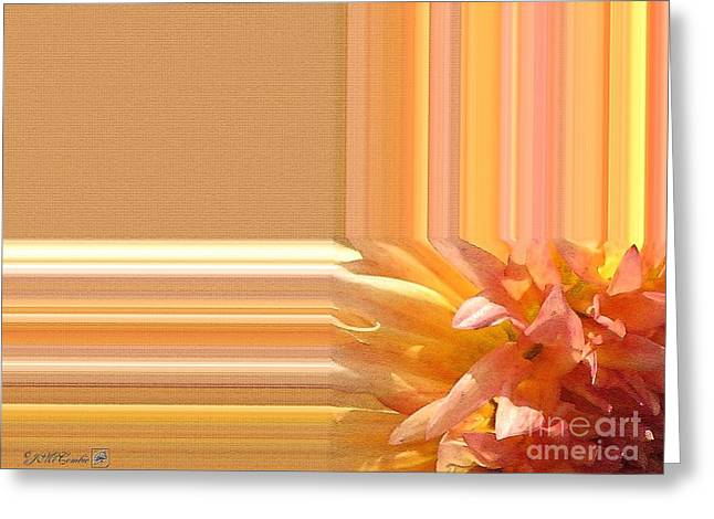 Geometric Artwork Greeting Cards - Dahlia named Intrepid Greeting Card by J McCombie