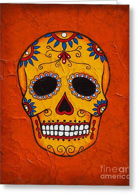 Day Of The Dead Greeting Card by Joseph Sonday