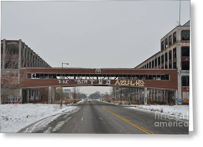 Detroit Packard Plant Greeting Card