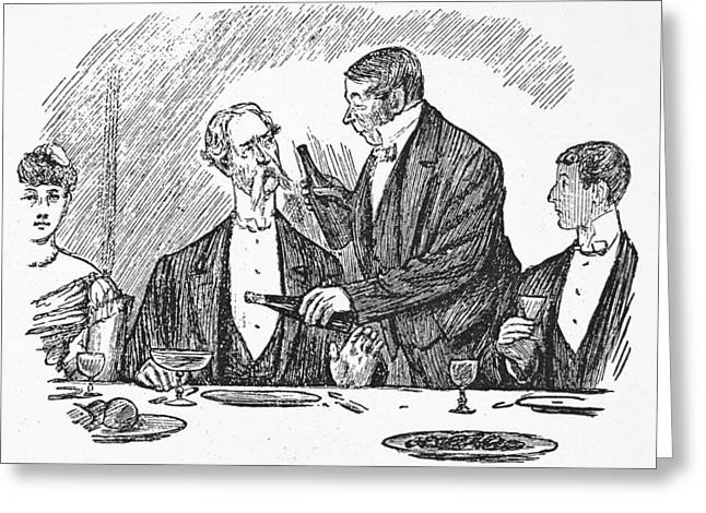 Dining, 19th Century Greeting Card by Granger