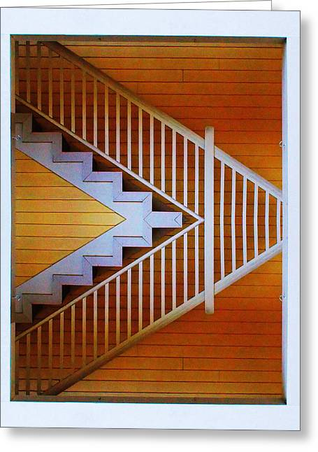Distorted Stairs Greeting Card